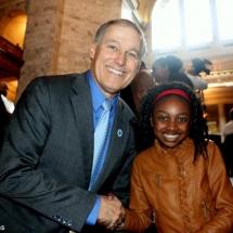 Thandi Chirwa with Washington Governor Jay Insley
